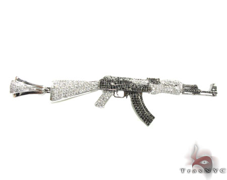 Custom Jewelry - AK-47 Pendant 21753 Metal