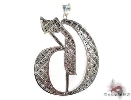 Custom Jewelry - Black Diamond Initial G Pendant Metal