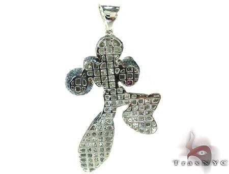 Custom Jewelry - Megaman Diamond Pendant Metal
