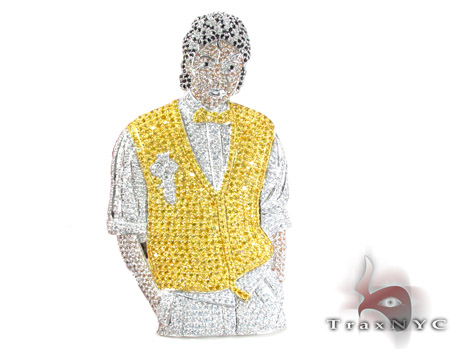 Custom jewelry traxnyc blog michael jackson custom pendant aloadofball Image collections