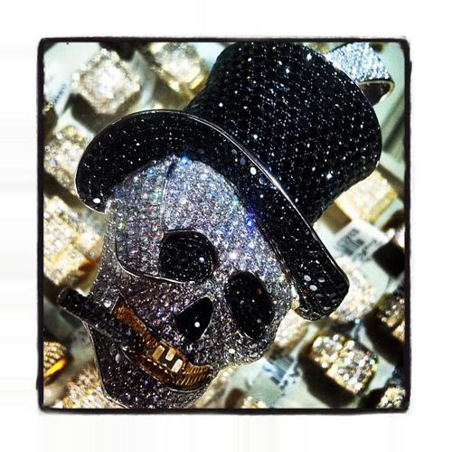 Custom Jewelry - Rich Boy Skull Pendant ダイヤモンド スカルペンダント