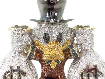 Custom Jewelry - Scrooge McDuck Red Diamond Pendant Metal