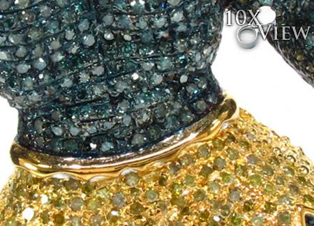 Custom Jewelry Hulk Diamond Pendant Metal