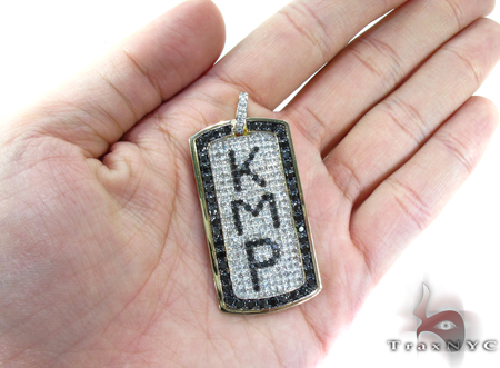 Custom Pave Diamond Dog Tag 1 Style