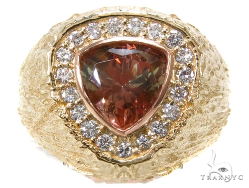 Custom Smoky Quartz Diamond Ring Stone