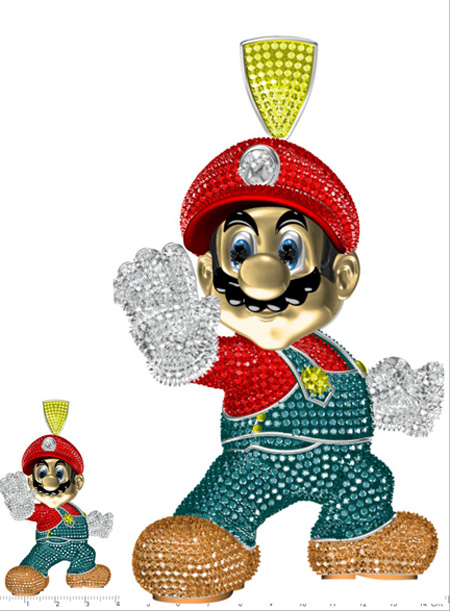 Custom Super Mario Pendant Metal