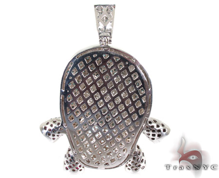 Custom Sushi Diamond Pendant Metal