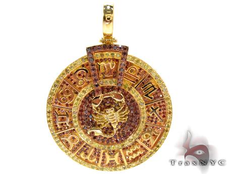 Custom Zodiac Pendant, hip hop jewelry style