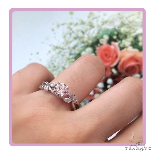 Daisy Diamond Engagement Ring 49251 Engagement