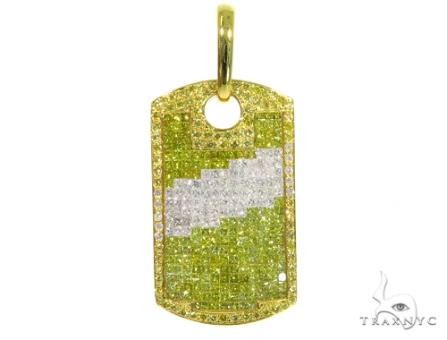 Diagonal Diamond Dog Tag 45371 Style