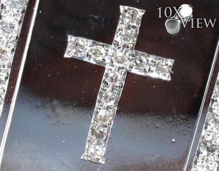Diamond Cross Dog Tag Style
