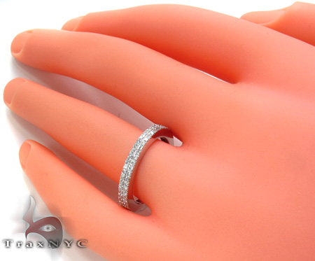 2 Row Diamond Ring 20443 Wedding