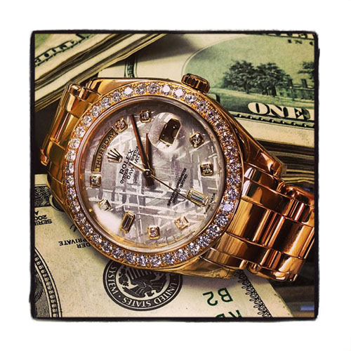 Diamond Rolex Day-Date Masterpiece 18K Gold Watch Diamond Rolex Watch Collection