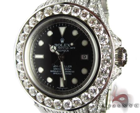Diamond-Rolex-Sea-Dweller-Black-Index-Dial-Watch-27198-Rolex-Watch-1    Black Diamond Rolex Watches