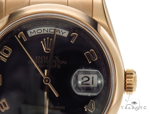 Rolex Day Date President Rose Gold 118205 Diamond Rolex Watch Collection