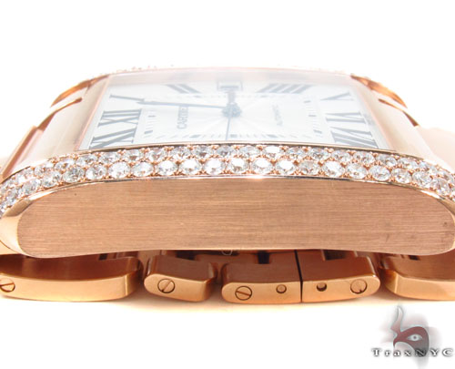 Diamond Rose Gold Cartier Tank Anglaise Watch Cartier