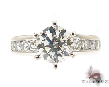 Diamond Round Cut Wedding Set Engagement