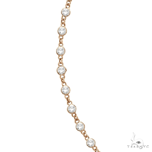 Diamonds by The Yard Eternity Necklace in 14k Rose Gold Diamond
