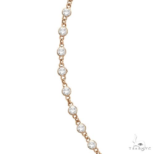 Diamonds by The Yard Eternity Necklace in 14k Rose Gold Diamond