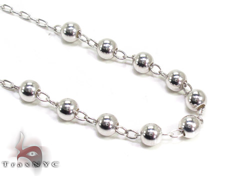 Dipped Silver Rosary 16 Inches 2mm 8.2 Grams Silver