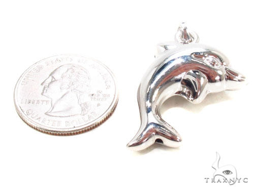 Dolphin Silver Pendant Metal