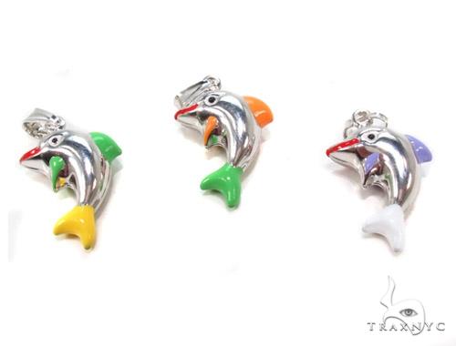 Dolphin Silver Pendant 36359 Metal