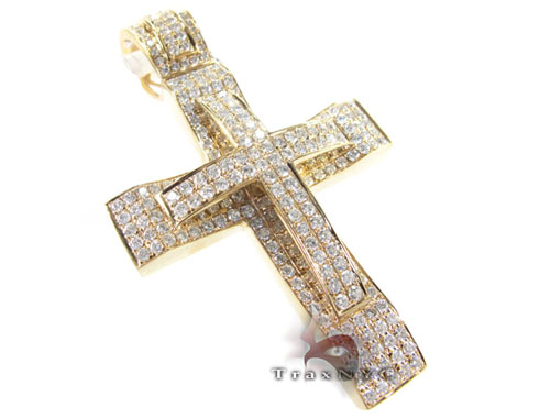Dual Cross Mens Diamond Cross