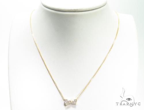 Duble Cute Heart Diamond Necklace 40808 Diamond
