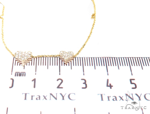 Duble Cute Heart Diamond Necklace 40808 Diamond