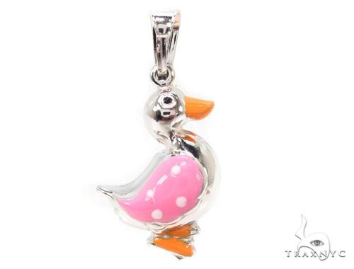 Duck Silver Pendant 36352 Metal
