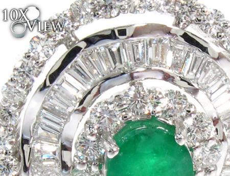 Emerald Diamond Drop Earrings Stone