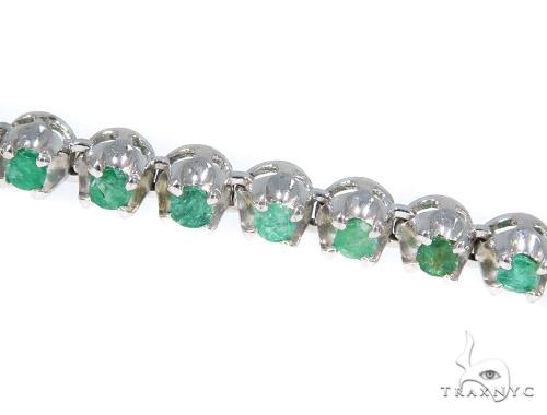 Emerald Gemstone Silver n 30 Inches 5mm 55 Grams 44841 Silver