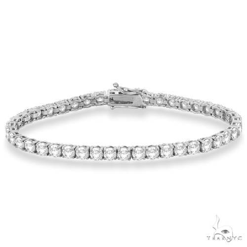 Eternity Diamond Tennis Bracelet 14k White Gold Diamond