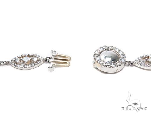 Eve Prong Diamond Chandelier Earrings & Necklace Set 43812 Diamond