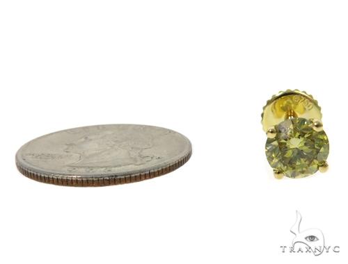 Fancy Yellow Diamond Stud Earrings 45243 Stone