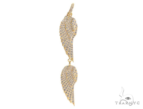 Feather Silver Pendant 43364 Metal