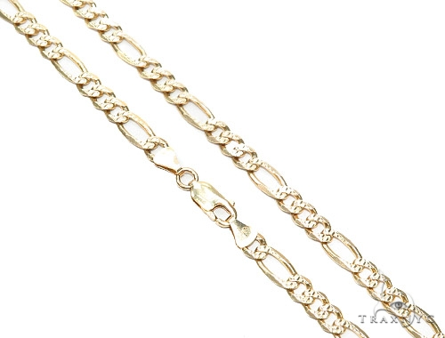 Figaro Gold Chain 24 Inches 6mm 28.4 Grmas 42295 Gold