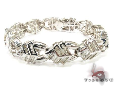Fishing bracelet mens diamond white gold 14k for Mens fishing bracelet