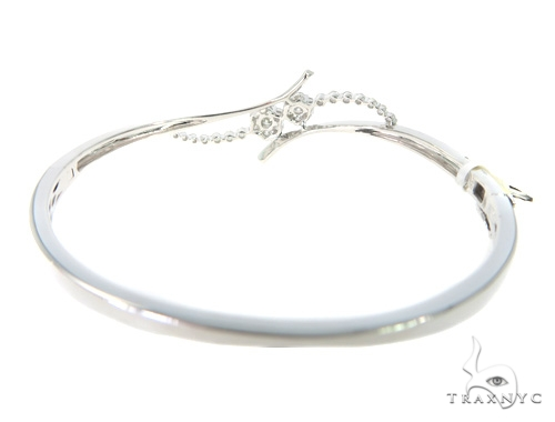 Flower Diamond Bangle Bracelet 56486 Diamond