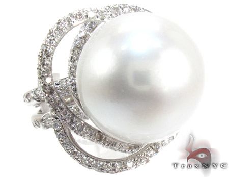 Flowering Pearl Ring 真珠 ダイヤモンド リング