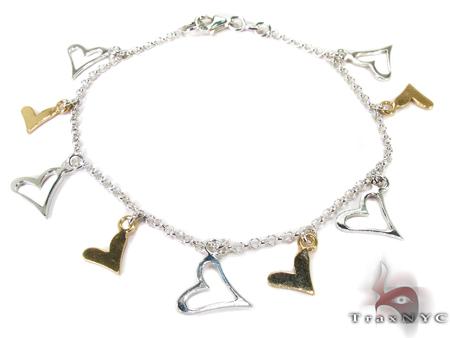 Fly Heart Silver Bracelet Silver & Stainless Steel