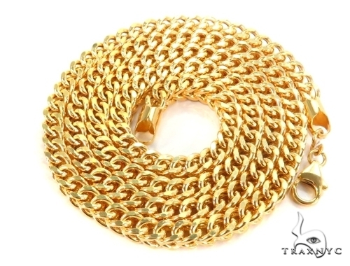 Franco Gold Chain 24 Inches 3mm 26.68 Grams 49525 Gold
