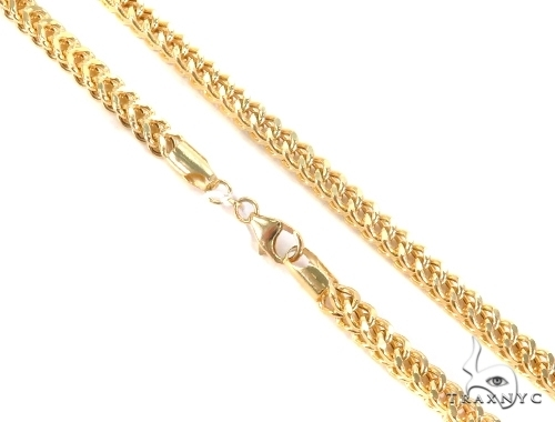 Franco Gold Chain 30 Inches 3mm 33.3 Grams 49528 Gold