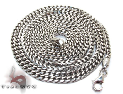 Silver Franco Chain 24 Inches 3 mm  29.9 Grams  43256 Silver