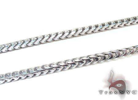 Franco Silver Chain 36 Inches 3mm 60.8 Grams Silver