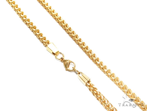 Franco Stainless Steel Chain 24 Inches 6 mm 73.3 Grams 43801 Stainless Steel