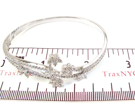 Fresh Flowers Diamond Bangle Bracelet Diamond