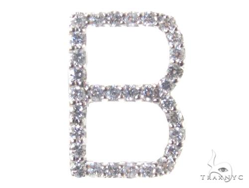 Frozen B Pendant Metal