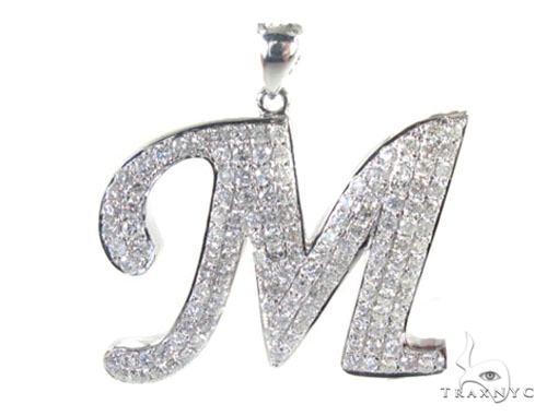 Frozen M Pendant Metal