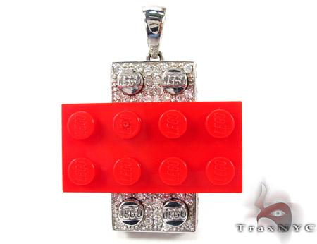 Full Diamond Lego Pendant Metal
